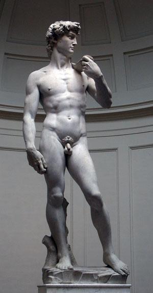 Michelangelos David unbeschnitten! Fälschung oder Provokation? (1/2)