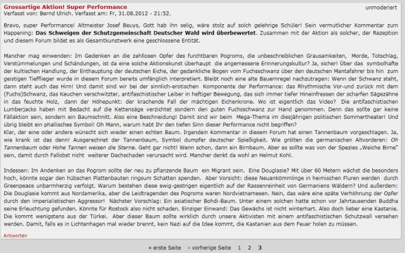 Antifaschisten als Aktionskünstler?
