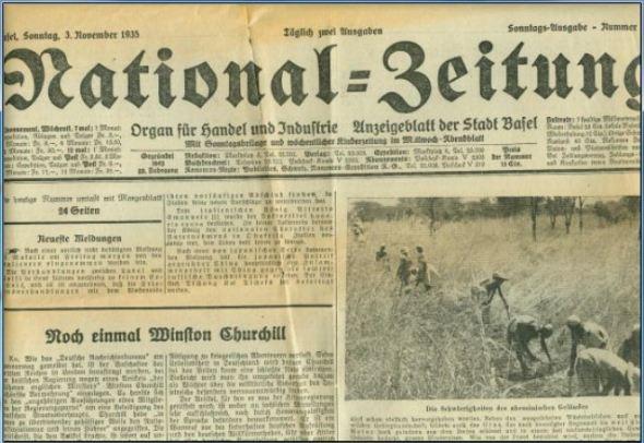 National-Zeitung Basel 3.11.1935 Titel
