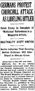 NY Times Oct 30th 1935