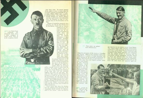 STRAND MAGAZINE Nov 1935 Churchill: The Truth about Hitler, page 12-13