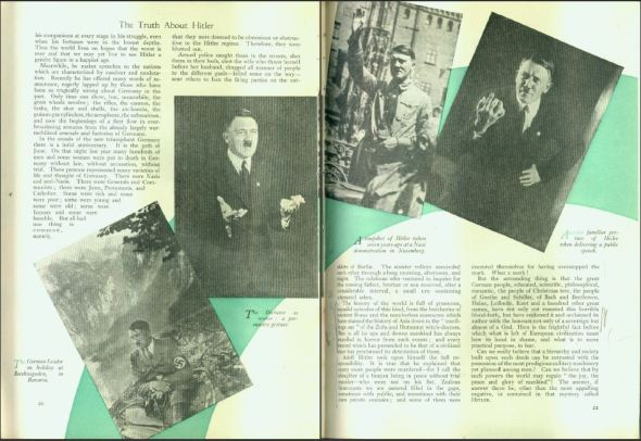 Strand Magazine Nov 1935, Churchill: The Truth about Hitler, pages 20-21