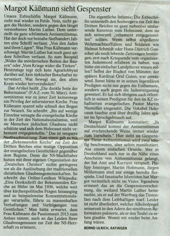 Leserbrief FAZ 19.April 2013