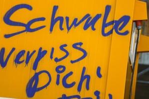 Schmierereien-gegen-Schwaben-in-Berlin Foto: dpa
