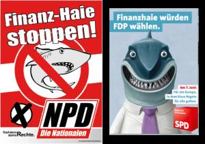 Sieht sich irgendwie ähnlich. Das SPD-Plakat kam später