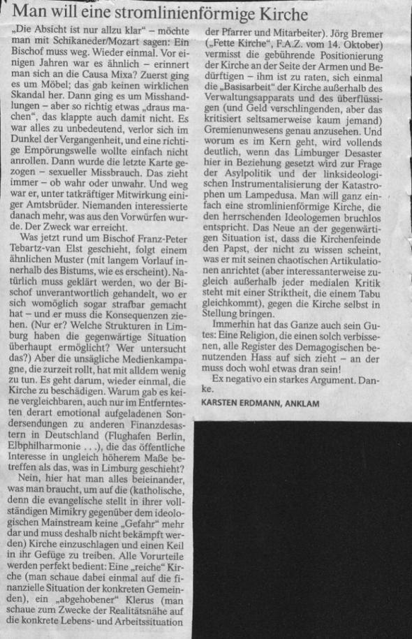 Leserbrief FAZ 16.10.2013