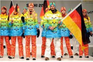 Regenbogenfarben bei deutschen olympischen Spielerinnen und Spielern