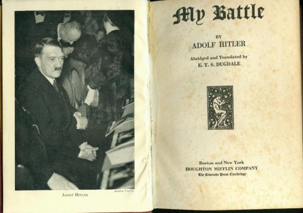 """Englische Übersetzung von """"Mein Kampf"""" 1933"""