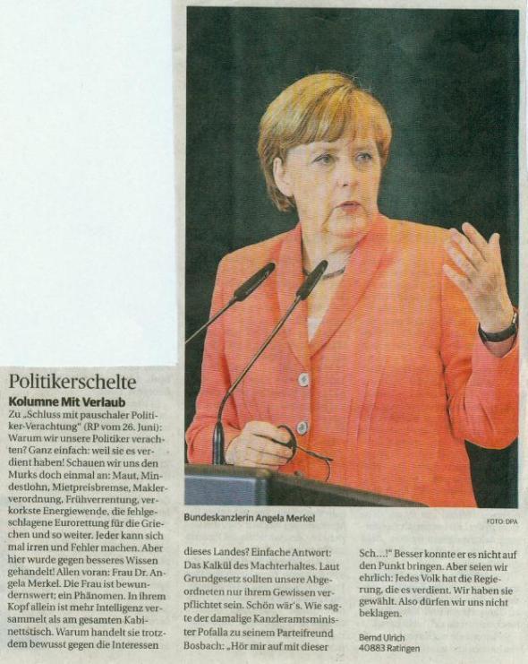 Eigentlich wollte ich keine Werbung für Angela Merkel machen ... und dann noch in dieser Pose