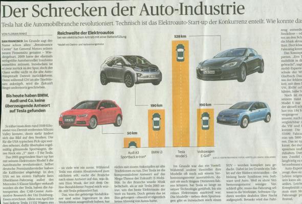 Tesla in der Rheinischen Post