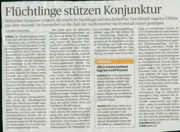Rheinische Post vom 9.10.2015