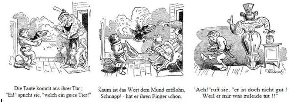 Enttäuschung und Wandlung einer Gutmenschin nach Wilhelm Busch